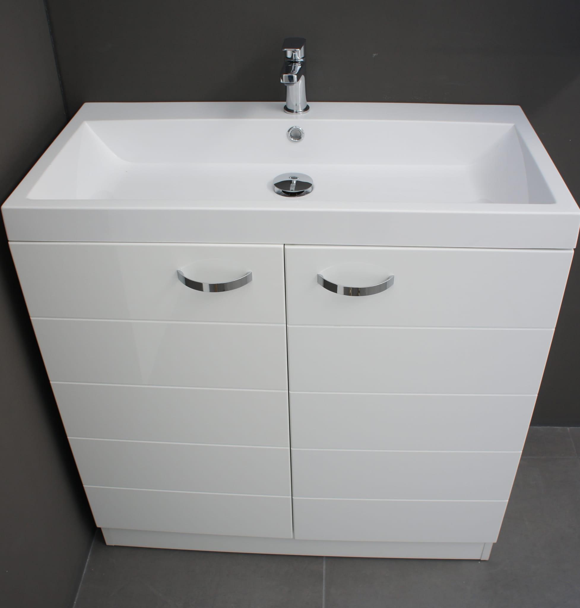 Uni 80 Szafka łazienkowa Z Umywalką 2x Drzwi Inbathpl